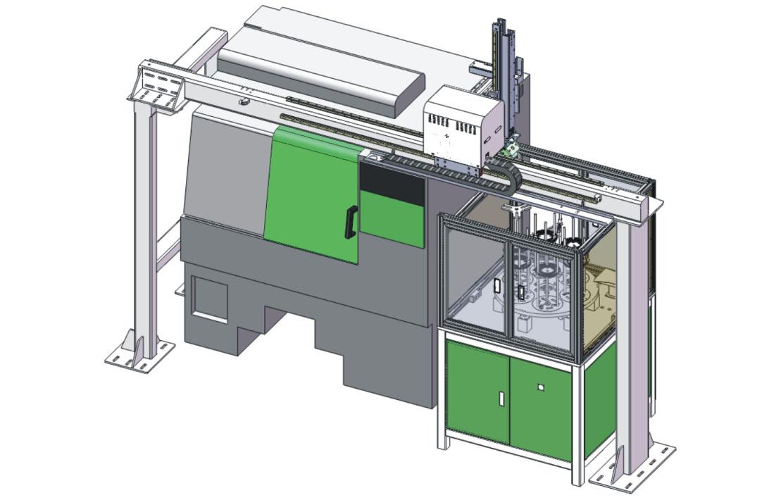 CNC数控机床上下料机械手